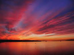 英吉利峡湾的日落
